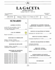 La Gaceta con documento publicado